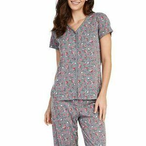 Charter Club Short Sleeve Coquette Pajama Top 719